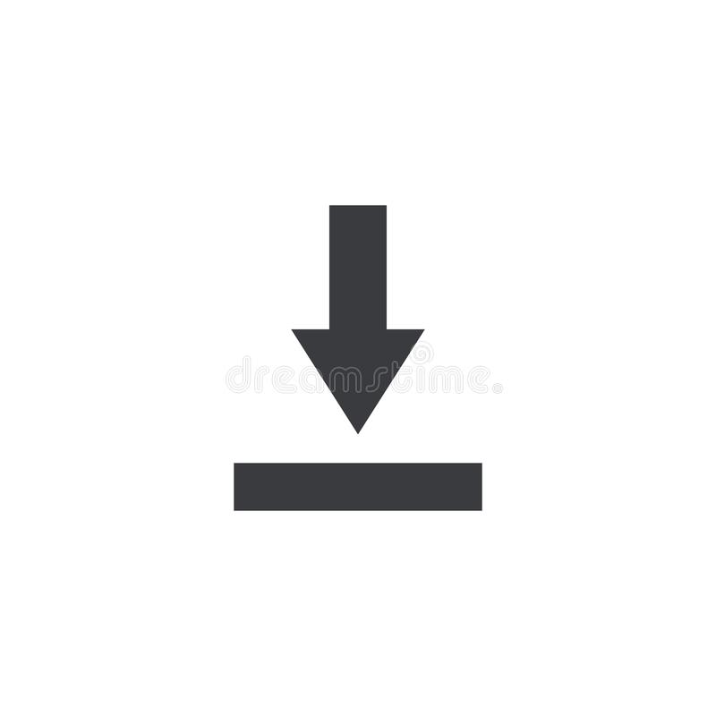 Icono del fichero de la importación Muestra de la transferencia directa Símbolo de ahorro del documento Botón del interfaz Elemen stock de ilustración