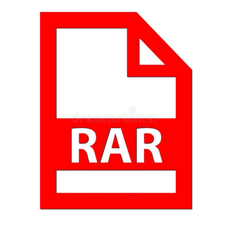 Icono del fichero de RAR ilustración del vector
