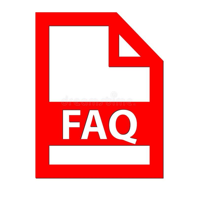 Icono del fichero del FAQ stock de ilustración