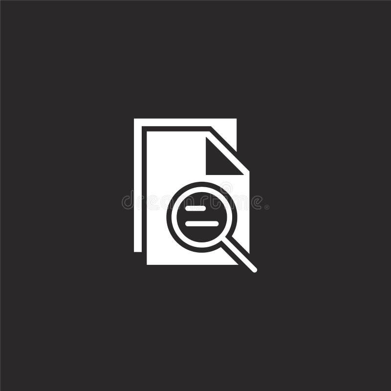 Icono del fichero Icono llenado del fichero para el diseño y el móvil, desarrollo de la página web del app icono del fichero de l ilustración del vector