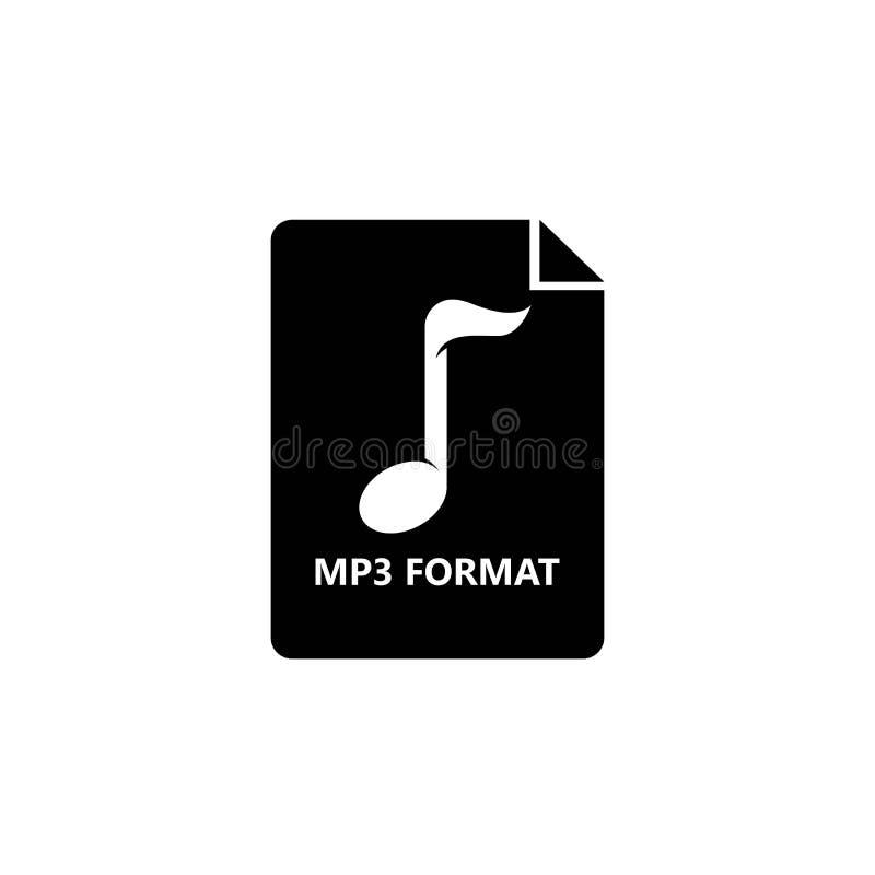 Icono del fichero MP3 Vector del ejemplo del elemento del logotipo stock de ilustración