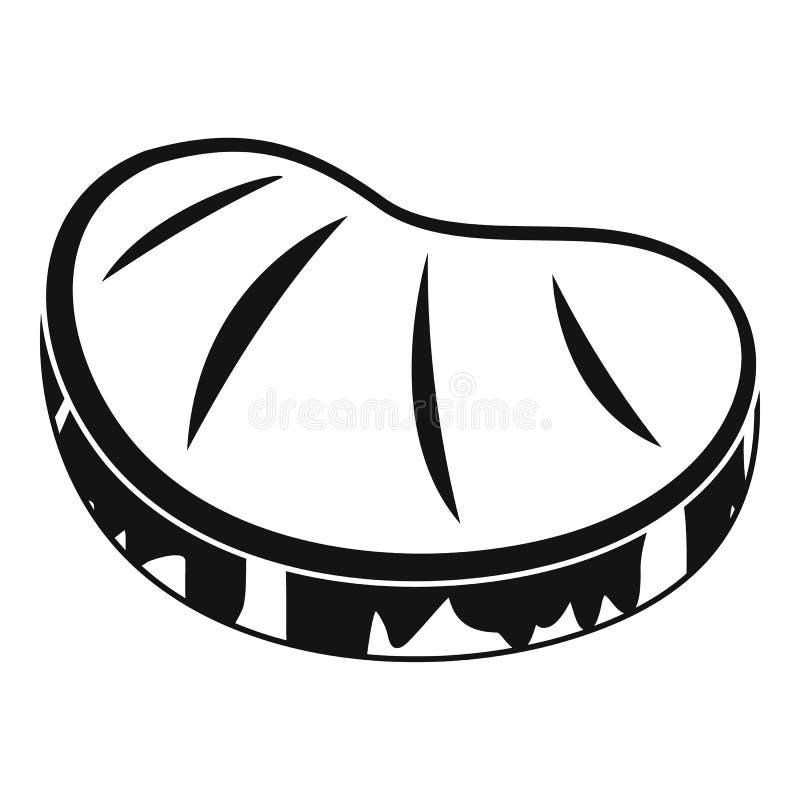 Icono del filete, estilo simple stock de ilustración