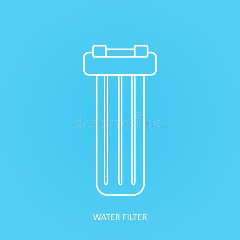 Icono del filtro de agua del grifo libre illustration