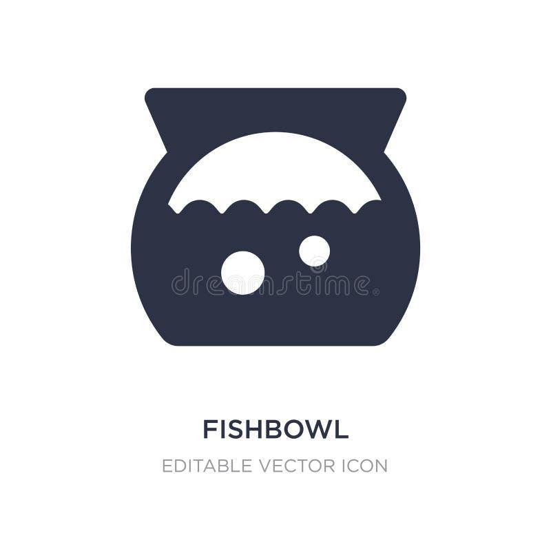 icono del fishbowl en el fondo blanco Ejemplo simple del elemento del concepto de los animales libre illustration