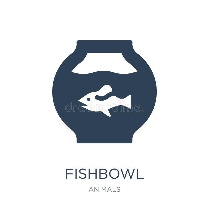 icono del fishbowl en estilo de moda del diseño icono del fishbowl aislado en el fondo blanco plano simple y moderno del icono de ilustración del vector