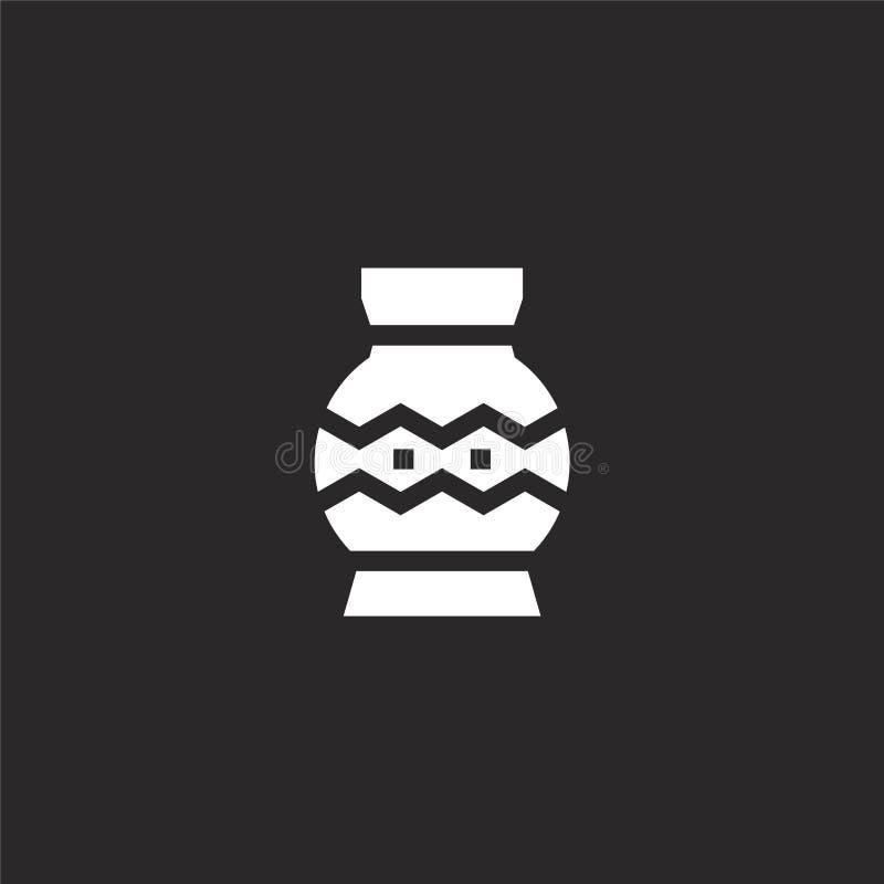 Icono del florero Icono llenado del florero para el diseño y el móvil, desarrollo de la página web del app icono del florero de l ilustración del vector