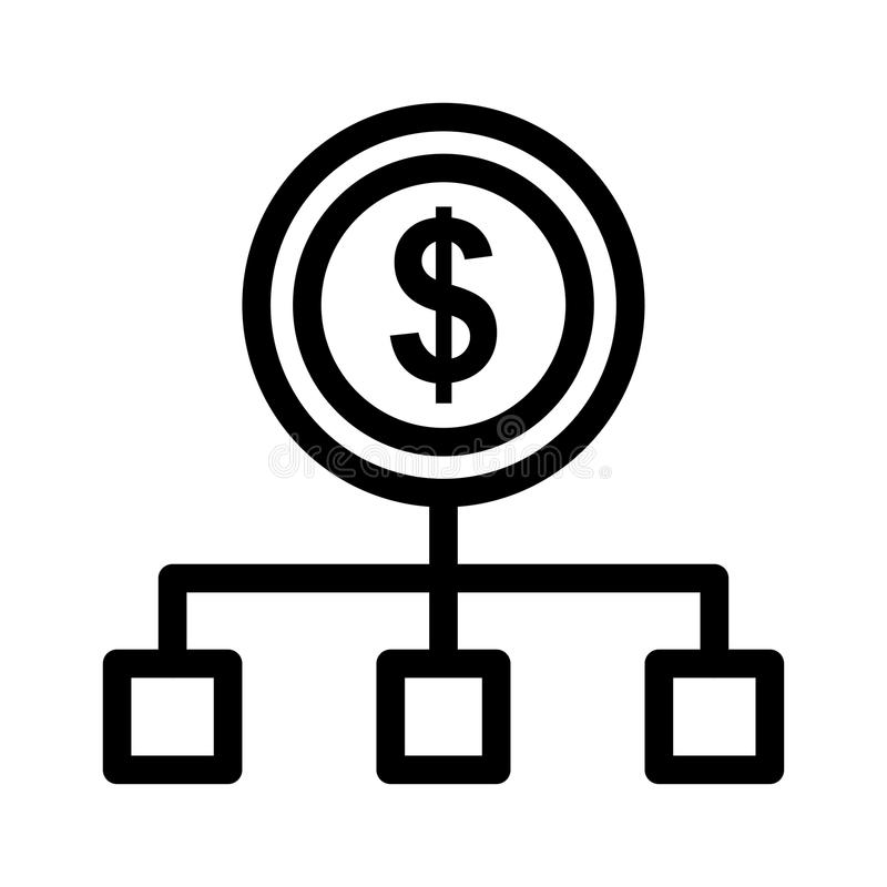 Icono del flujo de liquidez stock de ilustración
