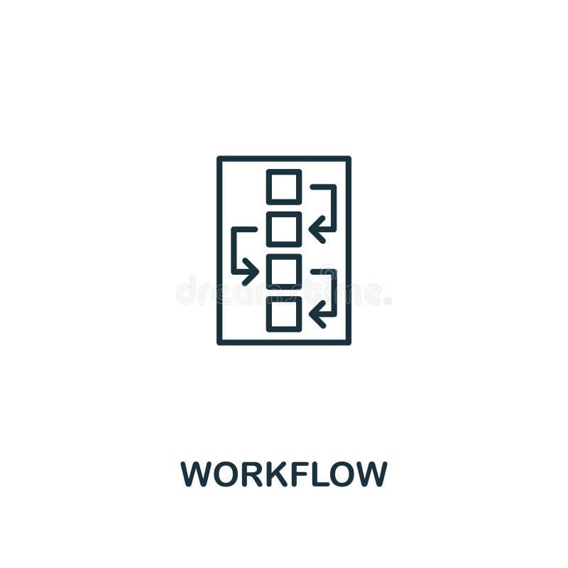 Icono del flujo de trabajo Diseño superior del estilo del ui del diseño y de la colección del icono del ux Icono perfecto para el ilustración del vector