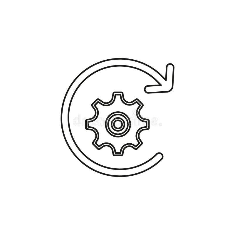 Icono del flujo de trabajo ejemplo del elemento ilustración del vector