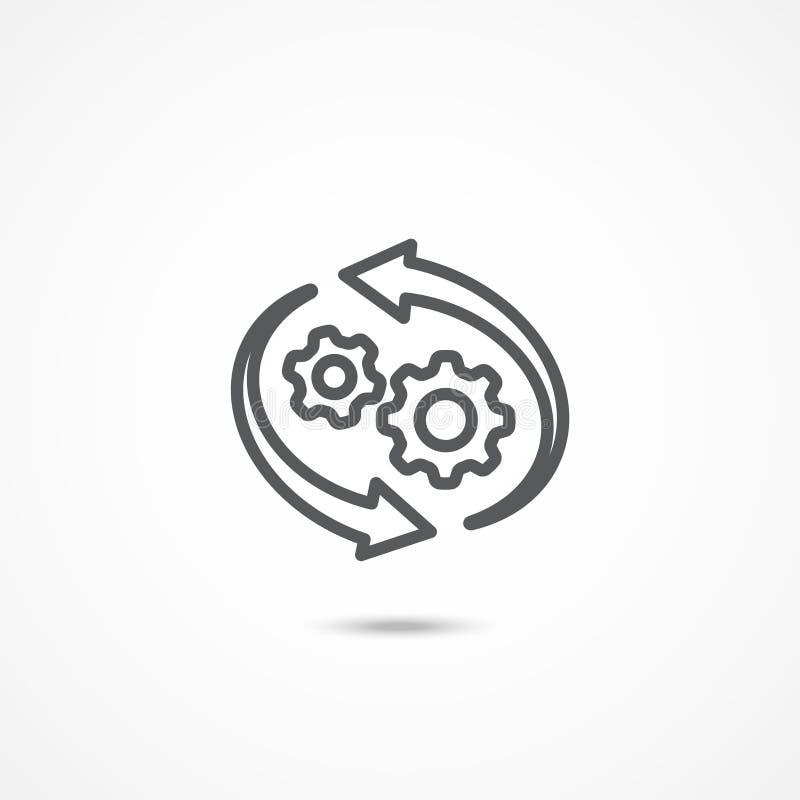 Icono del flujo de trabajo en blanco stock de ilustración