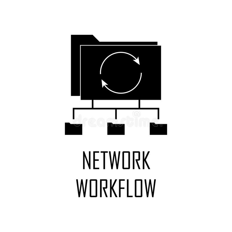 icono del flujo de trabajo de la red Elemento del desarrollo web para los apps móviles del concepto y del web El icono detallado  libre illustration