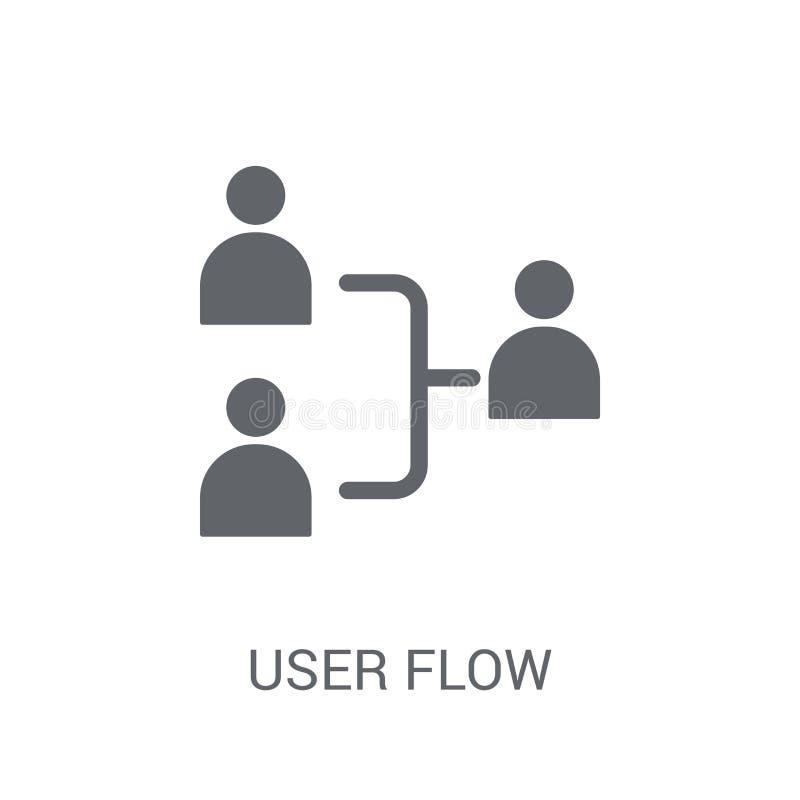 Icono del flujo del usuario  stock de ilustración
