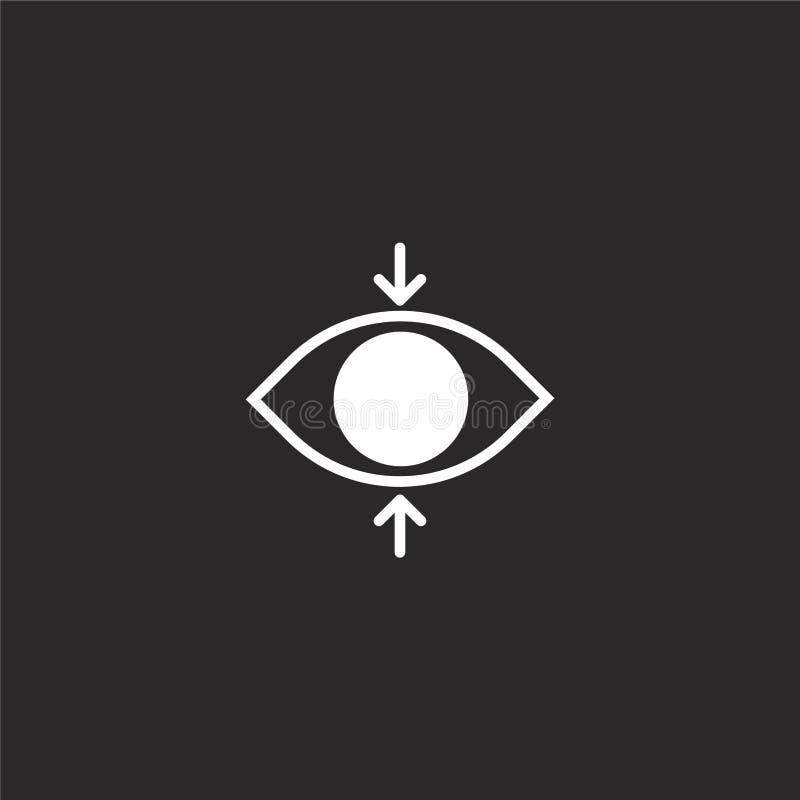 Icono del foco Icono llenado del foco para el diseño y el móvil, desarrollo de la página web del app icono del foco de la compila libre illustration
