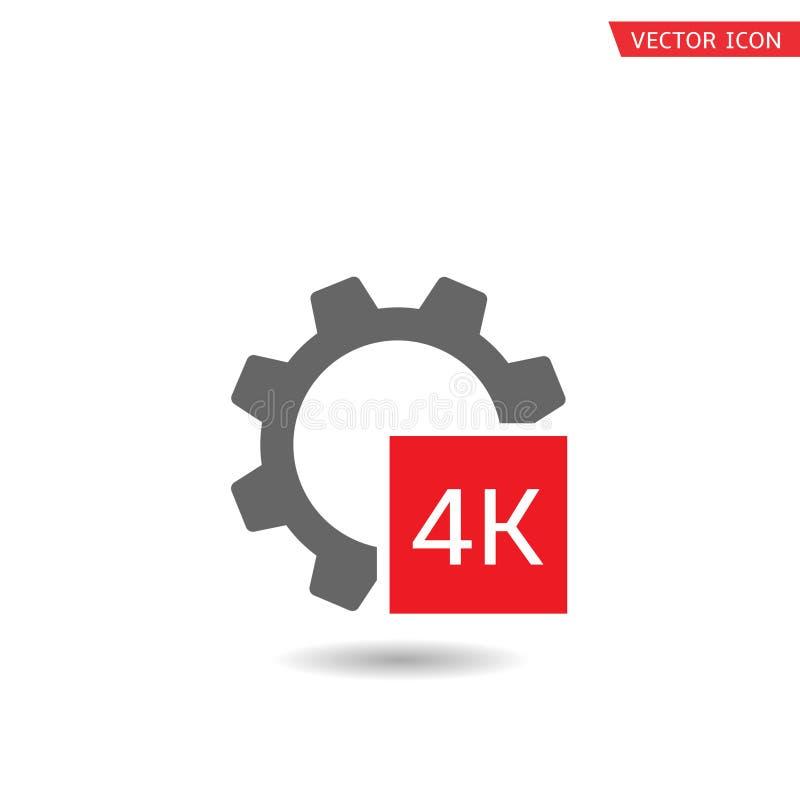 icono del formato 4K stock de ilustración