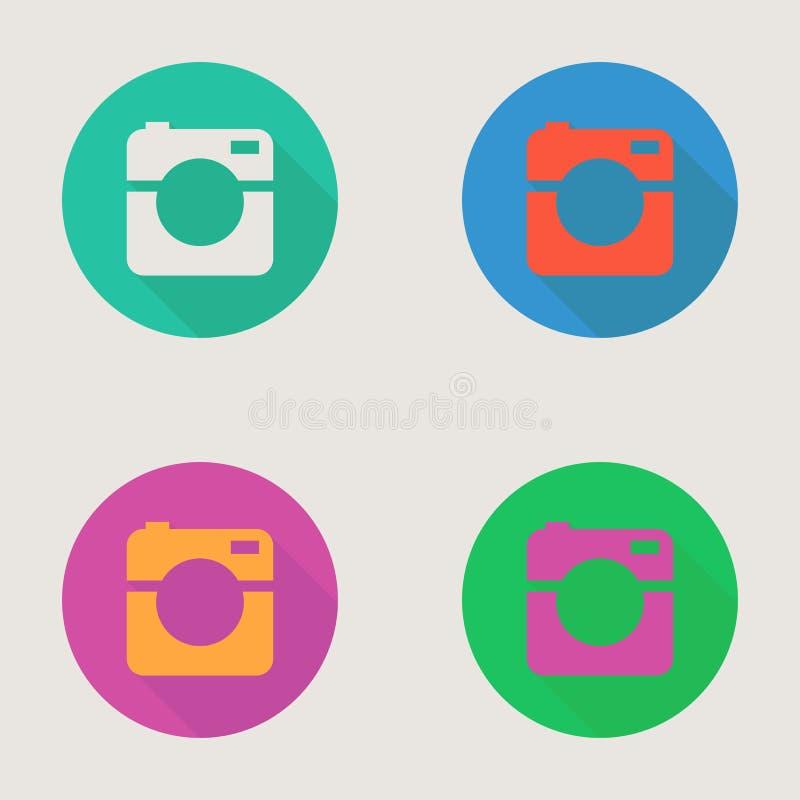 Icono del foto del inconformista o de la cámara de vídeo, minimalismo libre illustration