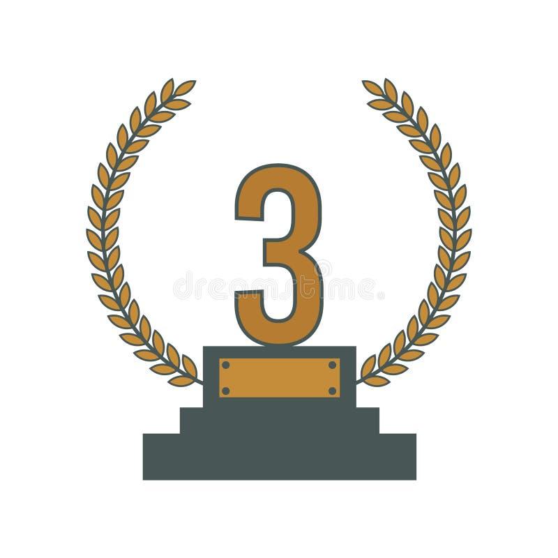 Icono del ganador del premio - icono plano de la medalla del triunfo del icono del ganador - ejemplo del premio s libre illustration