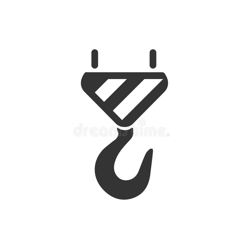 Icono del gancho del remolque ilustración del vector