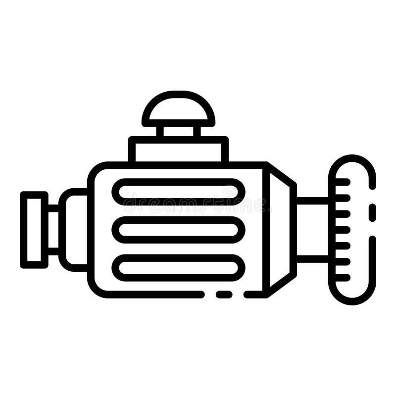 Icono del generador del coche, estilo del esquema stock de ilustración
