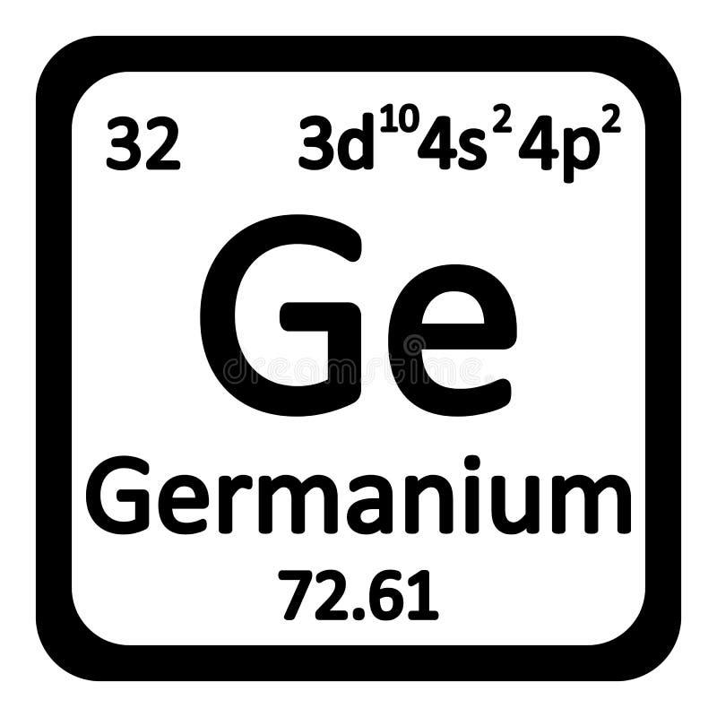 Icono del germanio del elemento de tabla periódica ilustración del vector
