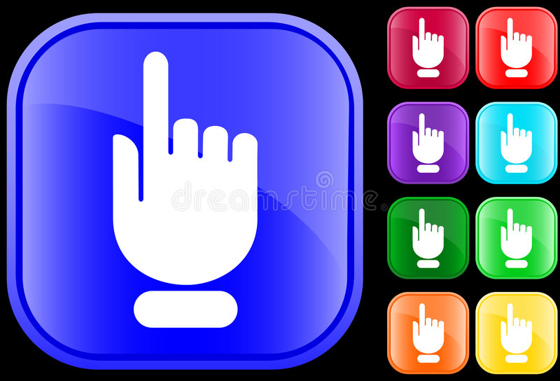 Icono del gesto de mano stock de ilustración