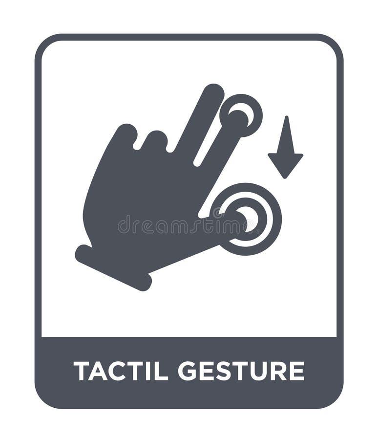 icono del gesto del tactil en estilo de moda del diseño icono del gesto del tactil aislado en el fondo blanco icono del vector de stock de ilustración