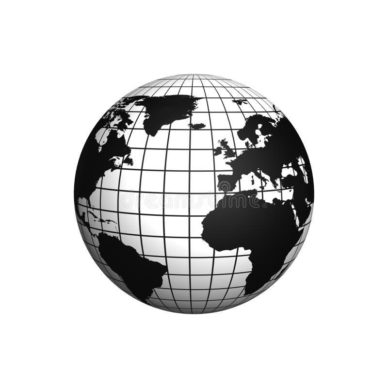 Icono del globo imagen de archivo libre de regalías