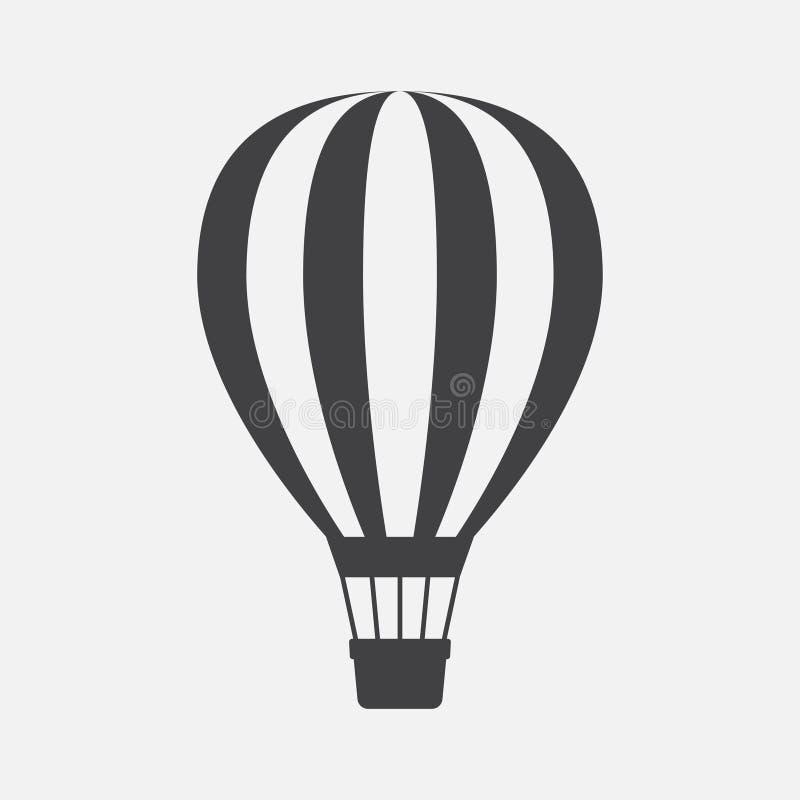 Icono del globo del aire caliente ilustración del vector