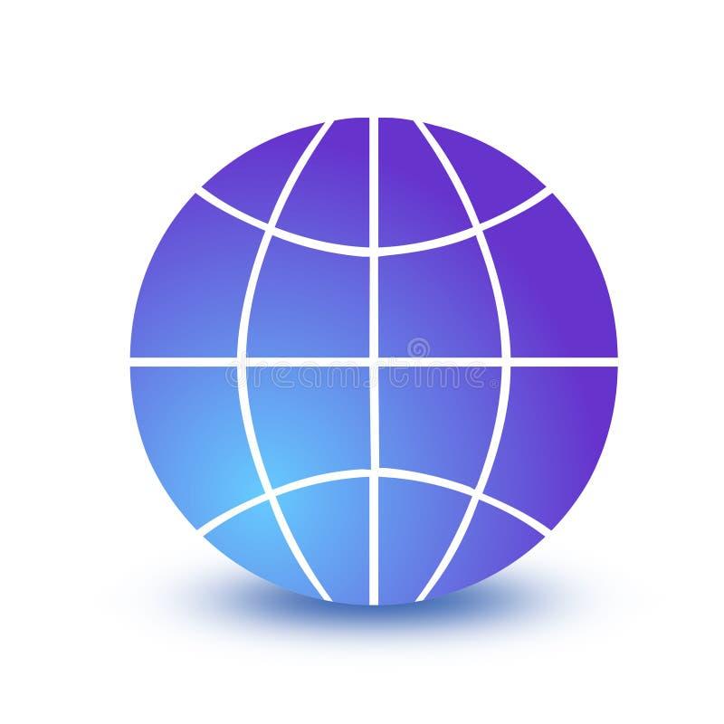 Icono del globo de Wireframe ilustración del vector