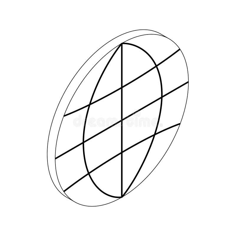 Icono del globo, estilo isométrico 3d stock de ilustración