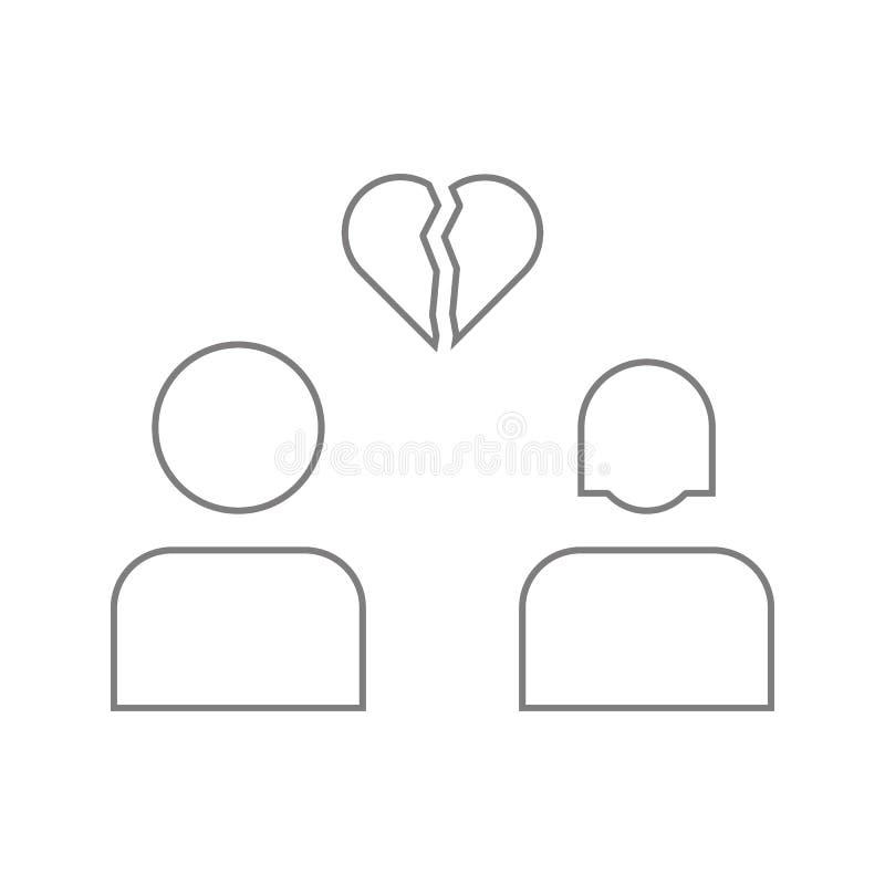Icono del glyph de la desintegración de los amantes Elemento de la seguridad cibernética para el concepto y el icono móviles de l stock de ilustración