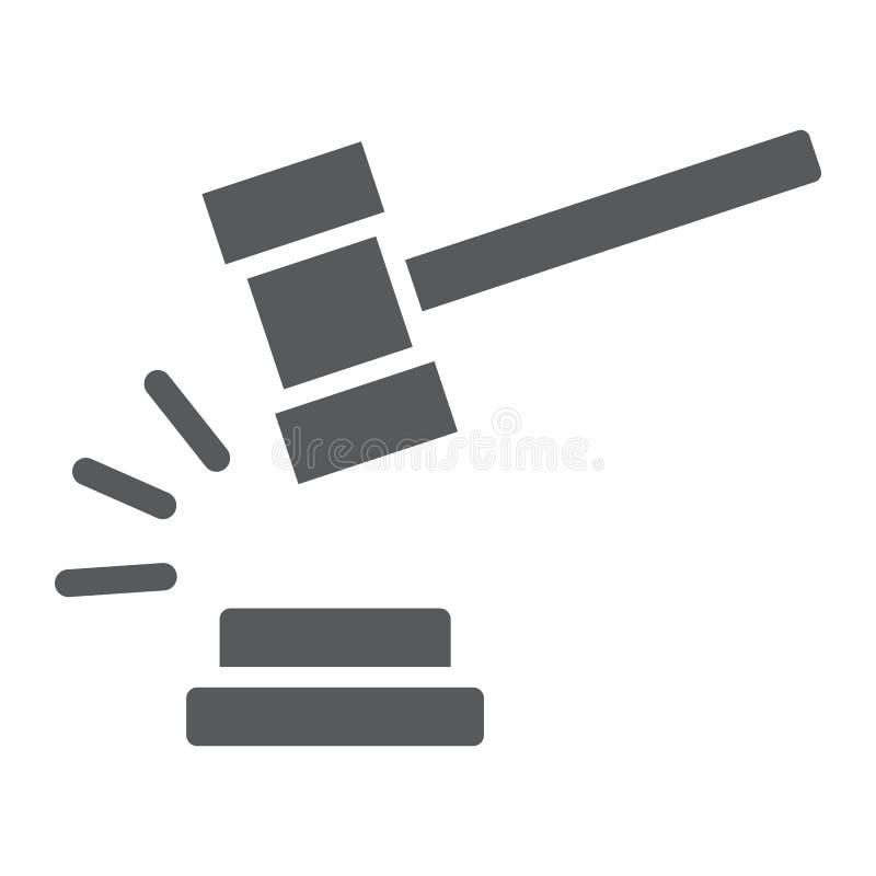 Icono Del Glyph Del Martillo Del Juez, Juicio Y Ley, Muestra Del Martillo  De La Subasta, Gráficos De Vector, Un Modelo Sólido En Ilustración del  Vector - Ilustración de corte, martillo: 147109477