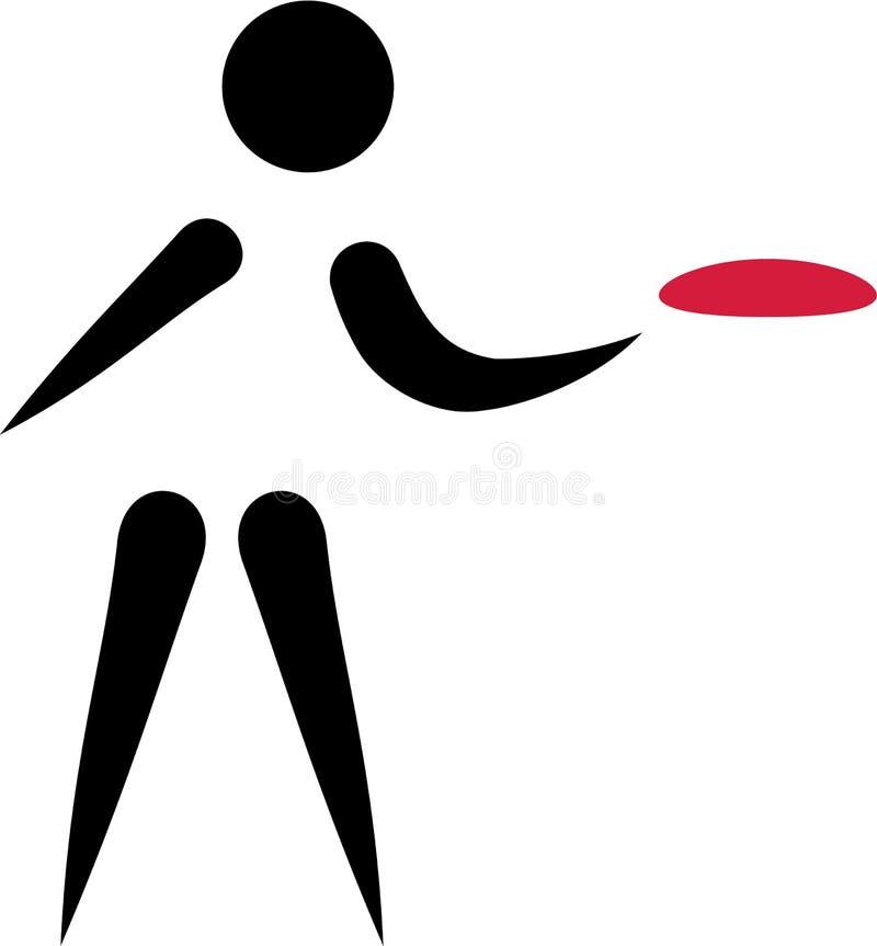 Icono del golf del disco de Frolf libre illustration