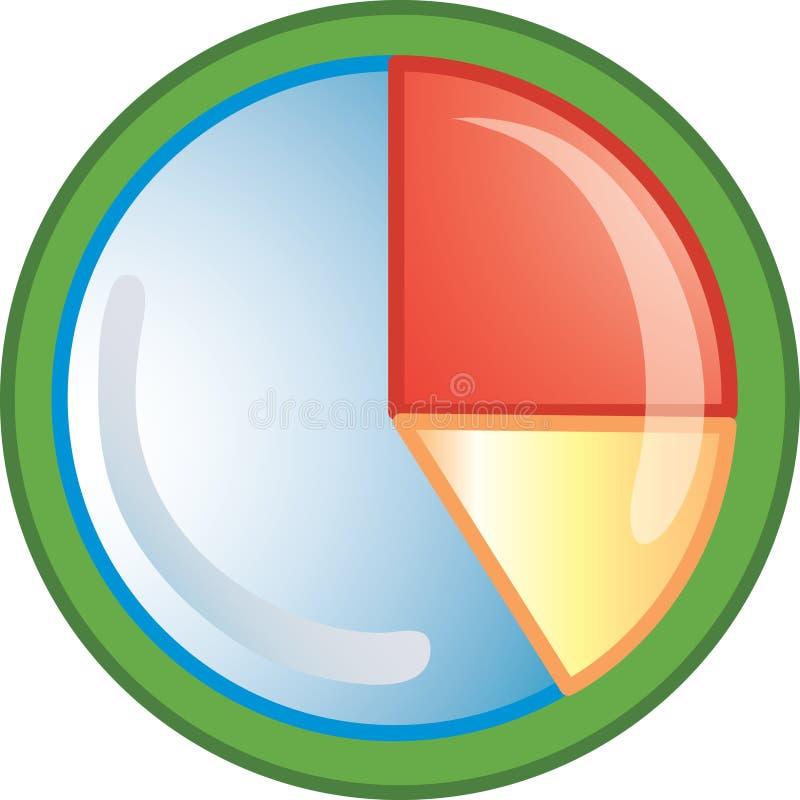 Icono del gráfico de sectores stock de ilustración