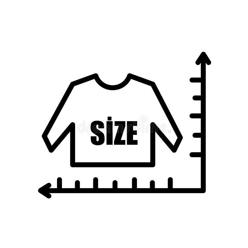 icono del gráfico de tallas aislado en el fondo blanco ilustración del vector