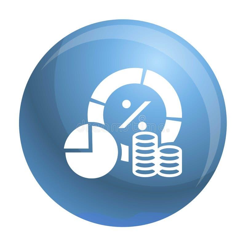 Icono del gráfico del dinero de las finanzas, estilo simple ilustración del vector