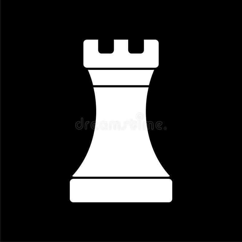 Icono del grajo del ajedrez en fondo oscuro libre illustration