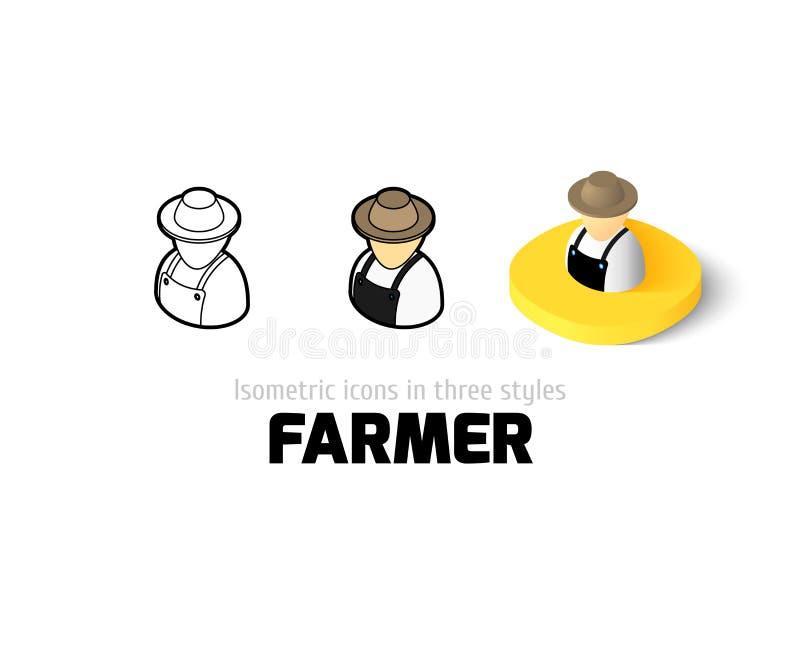 Icono del granjero en diverso estilo libre illustration