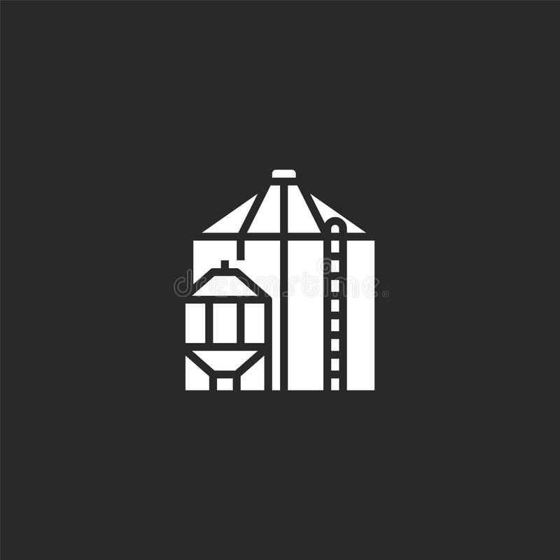Icono del grano Icono llenado del grano para el diseño y el móvil, desarrollo de la página web del app icono del grano de la cole ilustración del vector