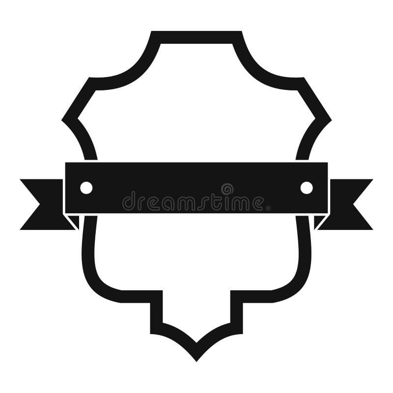 Icono del guarda de la insignia, estilo negro simple libre illustration