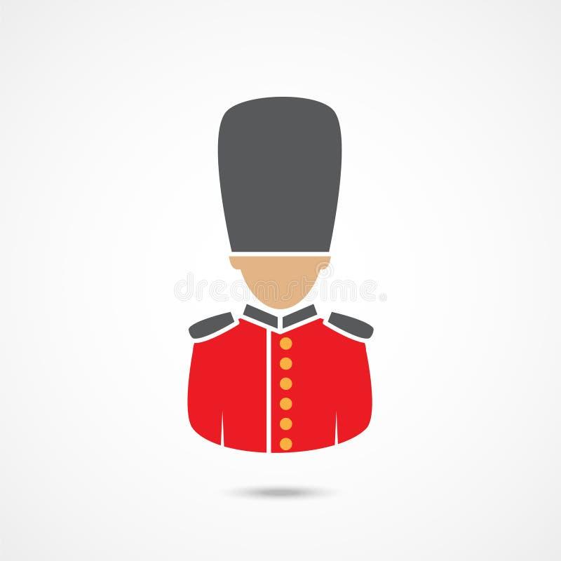 Icono del guardia del ` s de la reina ilustración del vector