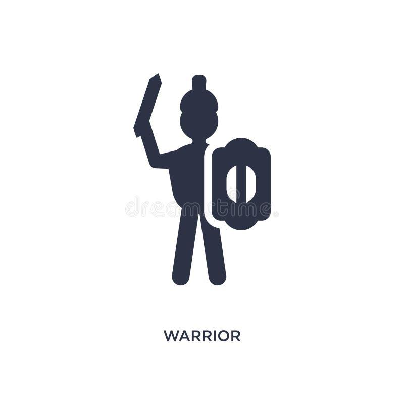 icono del guerrero en el fondo blanco Ejemplo simple del elemento del concepto de África stock de ilustración