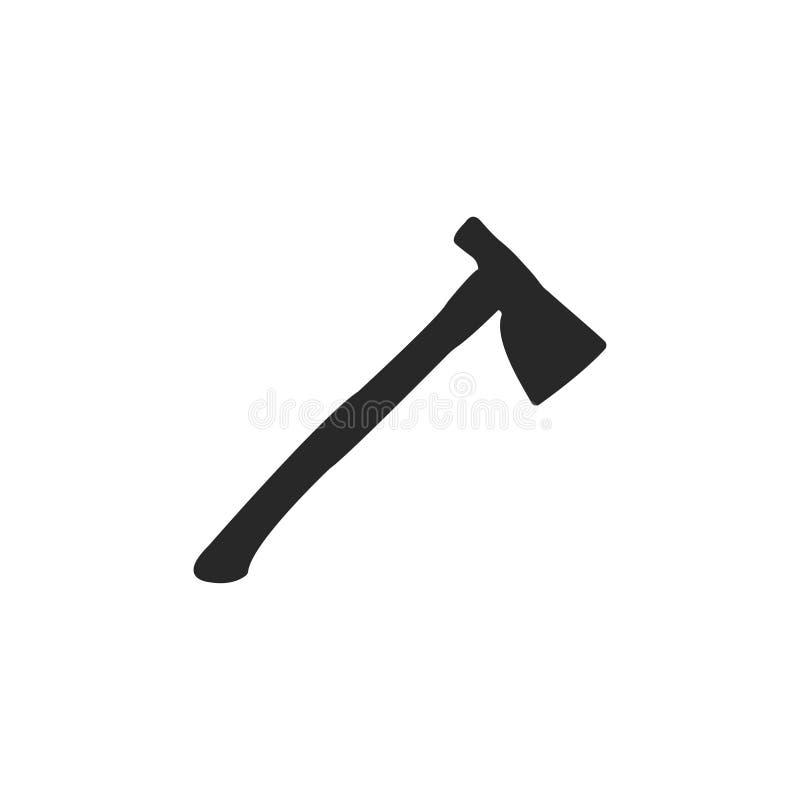 Icono del hacha Ilustraci?n del vector icono de la herramienta del trabajador stock de ilustración