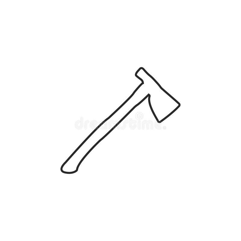 Icono del hacha Ilustraci?n del vector icono de la herramienta del trabajador ilustración del vector