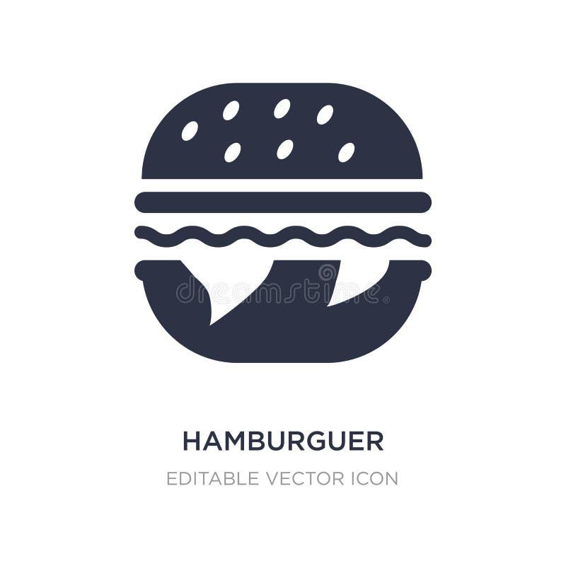 icono del hamburguer en el fondo blanco Ejemplo simple del elemento del concepto de la comida libre illustration