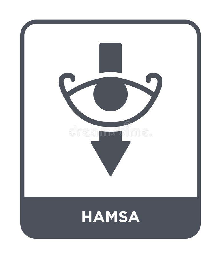 icono del hamsa en estilo de moda del diseño icono del hamsa aislado en el fondo blanco símbolo plano simple y moderno del icono  libre illustration