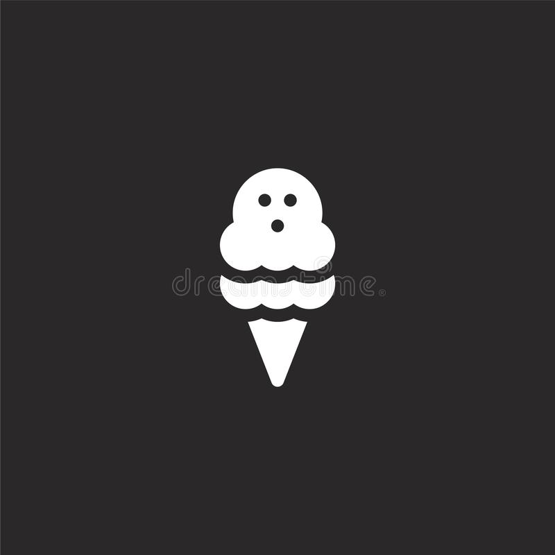 Icono del helado Icono llenado del helado para el diseño y el móvil, desarrollo de la página web del app icono del helado de la c ilustración del vector