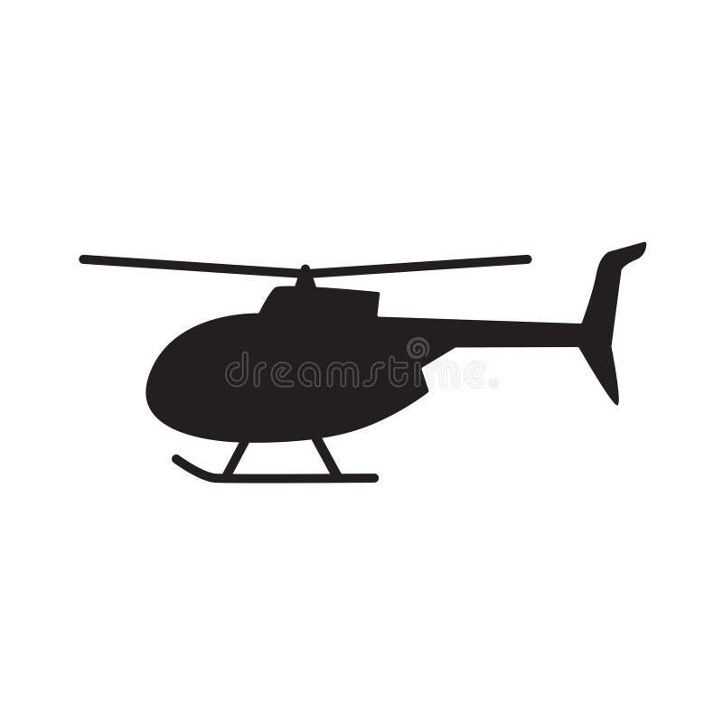 Icono del helicóptero stock de ilustración