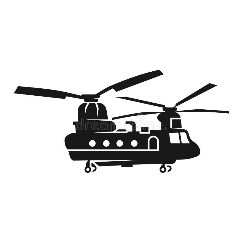 Icono del helicóptero de Chinook, estilo simple ilustración del vector