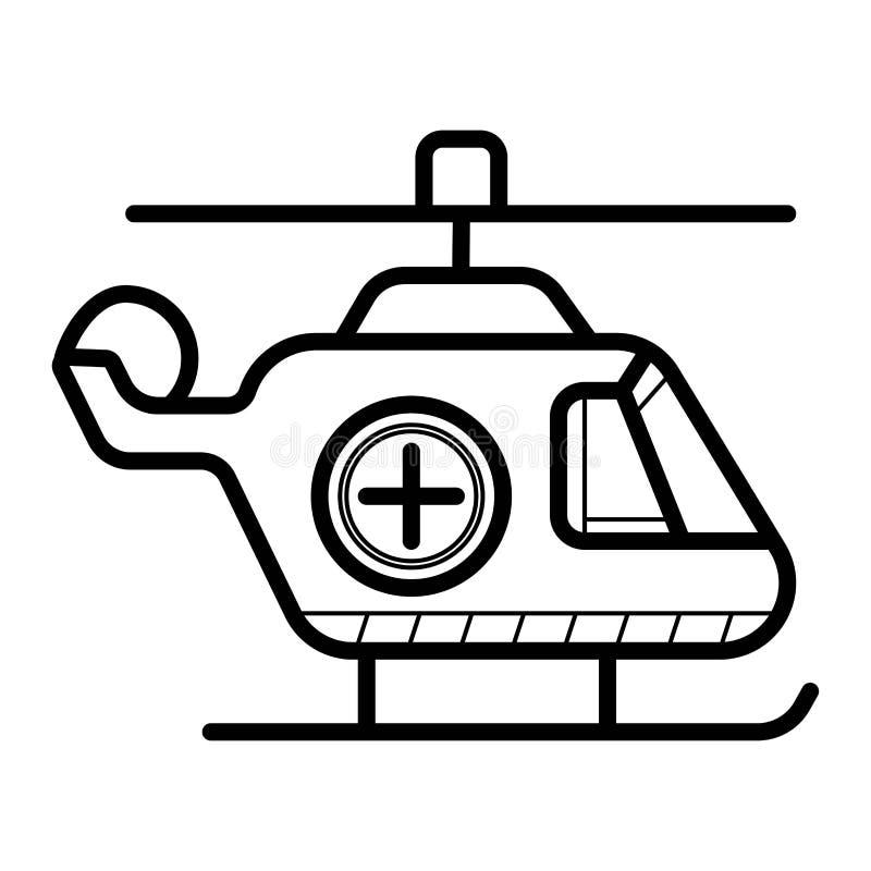 Icono del helicóptero de la ambulancia stock de ilustración
