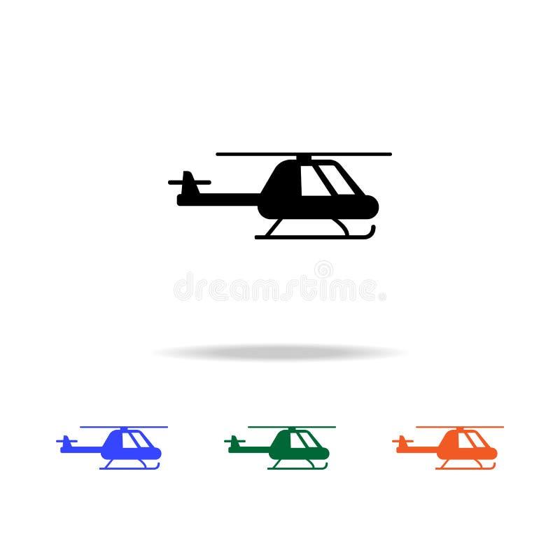 Icono del helicóptero Elementos del icono simple de la web en multicolor Icono superior del diseño gráfico de la calidad Icono si libre illustration